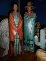 Native American Man & Woman with Cactus Set in Cleveland, Texas