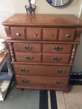 Solid wood chest of drawers 18 1/2 inches deep 32 inches wide 32 inches tall four draws in Spring, Texas