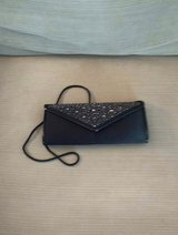 BLACK SATIN EVENING BAG in Glendale Heights, Illinois
