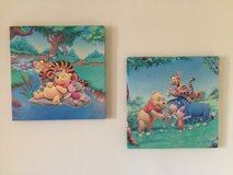 Winnie the Pooh canvas pictures and lampshades in Lakenheath, UK