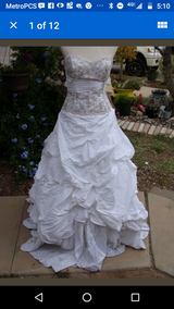 Women's white gold wedding dress formal S M in Fort Bliss, Texas