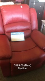 Red Recliner (New) Closeout in Fort Leonard Wood, Missouri