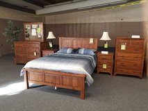 Solid Oak Handmade Amish Queen Bedroom Group in Fort Leonard Wood, Missouri