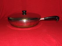 "Vintage Revere Ware 12"" Stainless Steel Skillet Fry Pan Copper Clad / Lid in Batavia, Illinois"