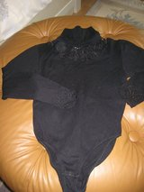 Black Turtleneck Bodysuit w/ Lace in Ramstein, Germany