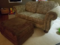 Couch and ottoman in Warner Robins, Georgia