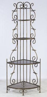 Antique Brass Metal Finish Corner Rack in Aurora, Illinois