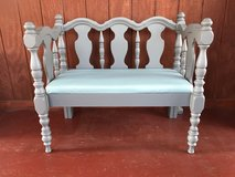 Up cycled bench in Naperville, Illinois