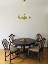 Antique wooden table + 4 chairs in Stuttgart, GE