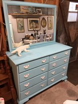 solid maple 8 drawer dresser w/mirror in Cherry Point, North Carolina