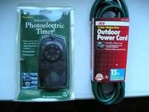 OUTDOOR PHOTOELECTRIC TIMER AND EXTENSION CORD in Naperville, Illinois