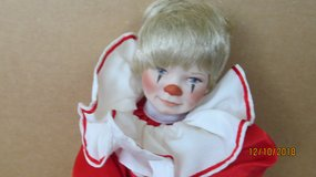 1990 McClelland Porcelain Tommy the Clown  - Numbered - Original Outfit in Byron, Georgia