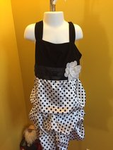 Black white formal dress holiday girls sz 7 in Morris, Illinois