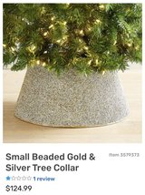 Christmas tree collar gold & silver (Pier 1 Imports) in St. Charles, Illinois