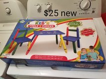 Crayon theme table with 2 chairs in Travis AFB, California