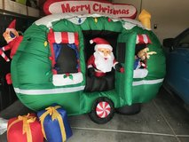 Inflatable Christmas Santa in RV in Nellis AFB, Nevada