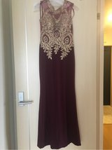 Burgundy ball gown size small in Okinawa, Japan