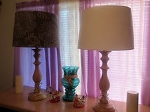 2 lamps different shades very nice...shades are like new in Alamogordo, New Mexico