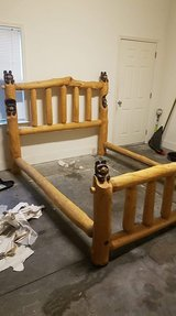 king size log bear bed in Goldsboro, North Carolina