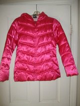 Girls 10-12 Pink Satin Jacket LN in Naperville, Illinois