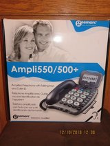 Geemarc Ampli550/500+ Digital Amplified Telephone Hearing Aid Compatible Phone in Lockport, Illinois