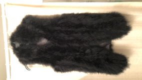 Black fur orstrich vest new in Tacoma, Washington