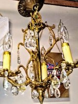 "petite antique Crystal chandelier 13"" diameter in Cherry Point, North Carolina"