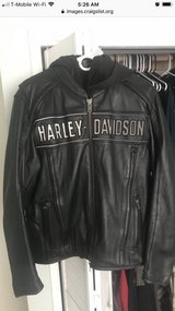 Leather Harley Riding Jacket in Camp Pendleton, California