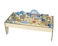 Wooden play table / toy set in Okinawa, Japan