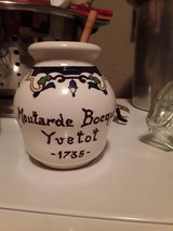 END OF THE YEAR SALE - DIGOIN SARREGUEMINES mustard jars Pikarome Bocquet Yvetot earthenware pot... in Lackland AFB, Texas