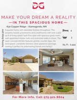SPACIOUS 4BD/3BATH HOME - MOVE-IN READY! in Alamogordo, New Mexico