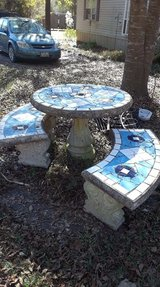 Outdoor Patio Concrete Table & Benches in Fort Polk, Louisiana