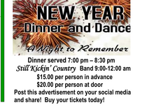 New Year's Eve dinner dance in Clarksville, Tennessee