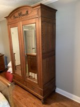 Antique Oak Armoire in Spring, Texas