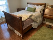 Antique Tiger Oak Sleigh Bed in The Woodlands, Texas