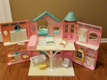Vintage Barbie dream house and accessories 31 inches tall x 30 inches wide in Joliet, Illinois