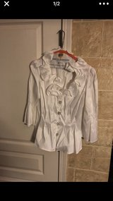 White evening top in Naperville, Illinois