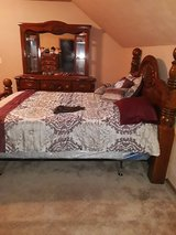 One heavy wood Bedroom Set in Lawton, Oklahoma
