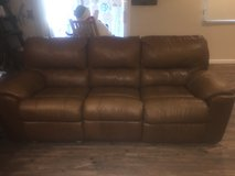 Brown leather couch set in Travis AFB, California