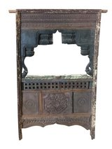 Antique Jharokha MIRROR VINTAGE Window TEAK Wood Hand Carved Eclectic Furniture in Birmingham, Alabama