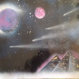 space paintings in Fort Leonard Wood, Missouri