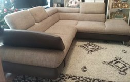L shape Couch with pullout bed function and Hocker in Baumholder, GE