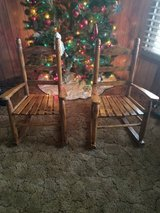 2 wood rocking chairs in Kingwood, Texas
