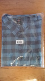 SHIRT - 4XL Men's Relaxed Fit Blue Buffalo Plaid in Glendale Heights, Illinois