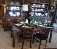 solid mango wood dining room set with 4 chairs in Spangdahlem, Germany