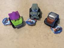 3 Hasbro Lil Chuck & Friends Marvel Trucks Rhino Green Goblin Thor Brand New in Travis AFB, California