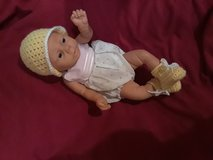 New ... 0/3 months crochet hat/booties in Fort Hood, Texas