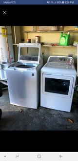 GE washer and dryer electric 10 months old in Fairfield, California