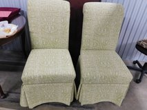 (2) Beautiful Fairfield Khaki & White Damask Tailored Upholstered Chairs in Westmont, Illinois