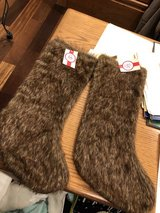 2 New Fur Christmas Stockings - New with Tags from Kirklands in Naperville, Illinois